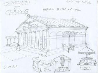 Company of Gyros Concept Art 04 - Museum Partenon Look