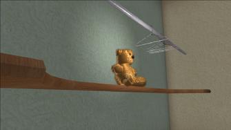 Lopez Mansion bear before shot