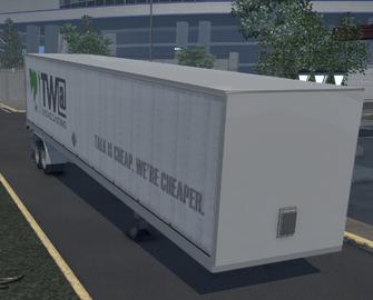 Flatbed trailer with Box - TWA