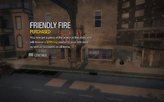 Friendly Fire in Sommerset purchased in Saints Row 2