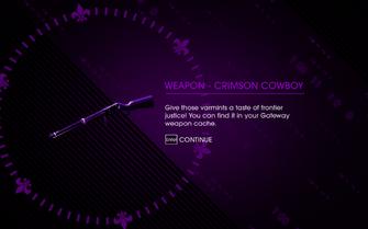 HtSSC Miracle on 3rd Street reward1, weapon - crimson cowboy