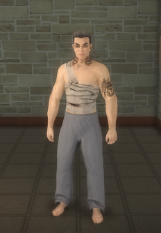 Johnny Gat - Bandage Gat - cutscene - character model in Saints Row 2