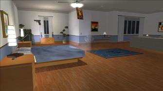 Price Mansion - blue bedroom