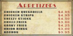 Smiling Jacks menu wall appetizer01 wo