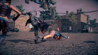 Combat in Saints Row IV - Super throwdown stomp - start