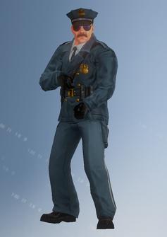 Cop - sniper - Jones - character model in Saints Row IV