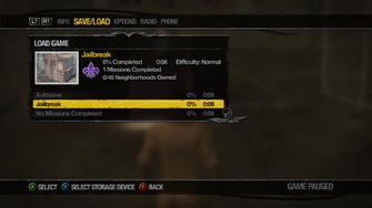 Jailbreak in load menu