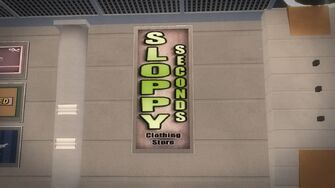 Sloppy Seconds sign in Rounds Square Shopping Center