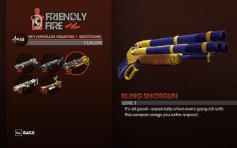 Bling Shotgun - Level 1 description