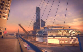 Brighton in Saints Row 2 - view of Ultor Dome
