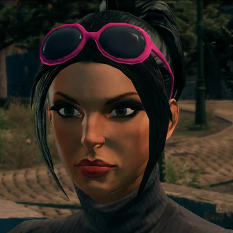 Kiki DeWynter - Pink glasses - modded cutscene