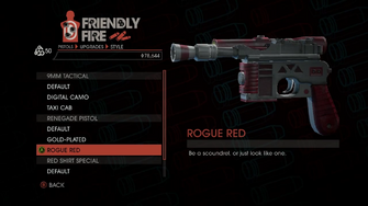 Weapon - Pistols - Quickshot Pistol - Renegade Pistol - Rogue Red