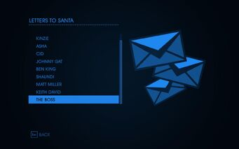 Letters to Santa Menu 2 in Saints Row IV
