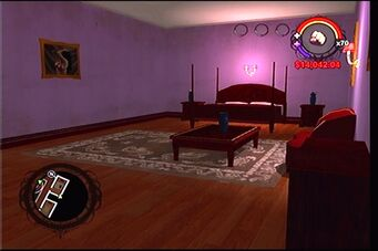 Raykins Hotel - purple bedroom
