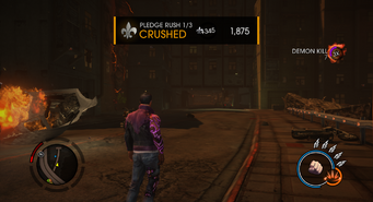 Saints Row Gat out of Hell - Pledge Rush Diversion Completed Screen