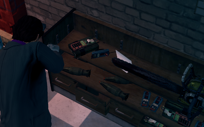 Satchel Charges on display at Friendly Fire in Saints Row The Third