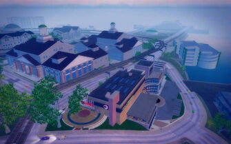 Amberbrook in Saints Row 2 - aerial view