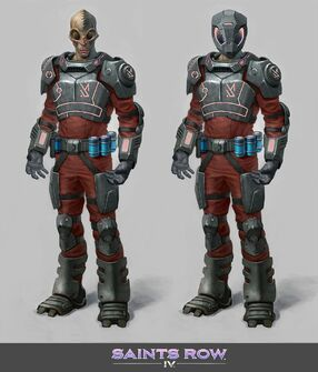 Zin - early Zin Soldier Concept Art - coloured with and without helmet