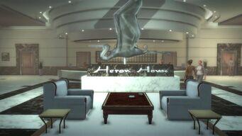 Heron Hotel - interior lobby sculpture