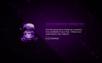 How the Saints Save Christmas Pack unlocked