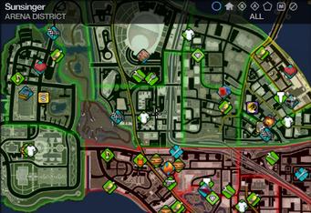 Map in Saints Row 2 - Arena - Sunsinger