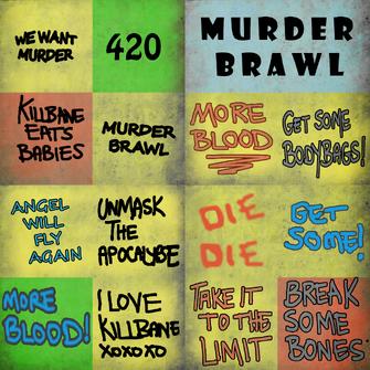 Murderbrawl fan banners