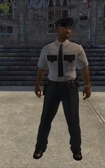 Security - black - character model in Saints Row