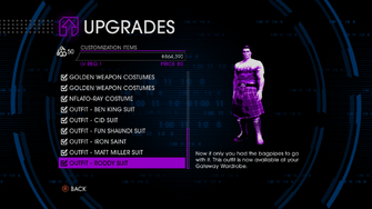 Upgrades menu in Saints Row IV - Page 2 of Customization Items