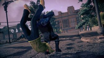 Combat - Super rear running attack in Saints Row IV - start