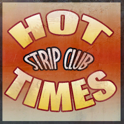 Hot Times strip club sign