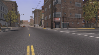 The Streets of Stilwater - view of 3 locations out of cutscene