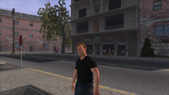 The Streets of Stilwater - view of Bob's Liquor to the east of graffiti location out of cutscene