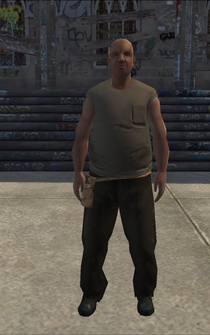Construction - black - character model in Saints Row