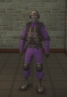 Gang Customization - Bodyguards - male soldier 1 - black