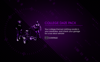 Saints Row IV DLC Unlock - College Daze Pack