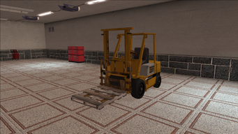 Saints Row variants - Forklift - industrial with pallet - front left