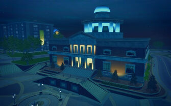 Stilwater University Student Union - exterior at night