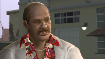 Close up of Manuel Orejuela in the Meet the Lopezes cutscene