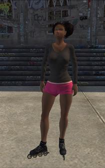 Rollerskater - black2 - character model in Saints Row