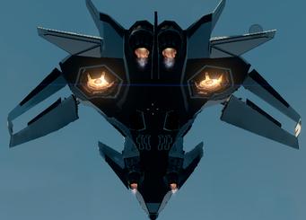 F-69 rear underside hover mode
