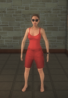 Lifeguard - white female onepiece nohat - character model in Saints Row 2