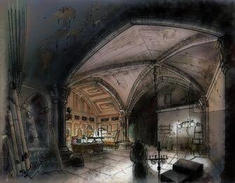 Saints Row Church - Johnny Gat's office Concept Art