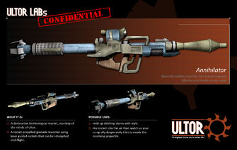 Annihilator RPG - Ultor information sheet