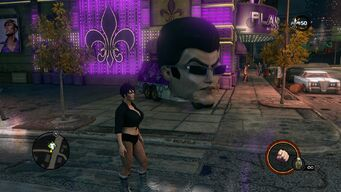 Gat Mobile outside Planet Saints in Saints Row The Third