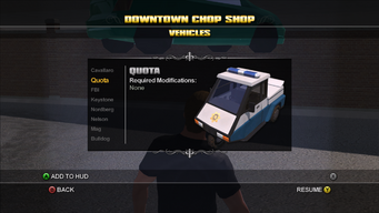 Saints Row Chop Shop - Downtown - Quota