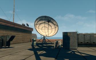 Abandoned office building - satellite dish