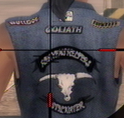 Goliath logo on biker jacket in Saints Row 2
