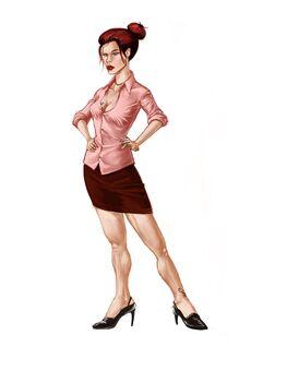 Jessica Concept Art 03 - Dress shirt with longer skirt