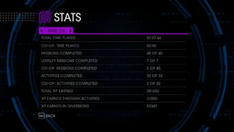Stats Page 1 in Saints Row IV