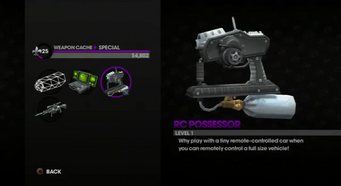 RC Possessor in the Weapon Cache
